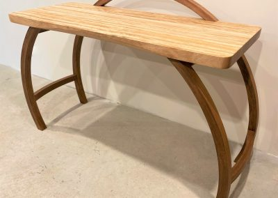 Oak desk with blackwood legs